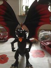 Playmobil Drache, Schwarz - rot, Feuer speiend, mit LED-Mähne