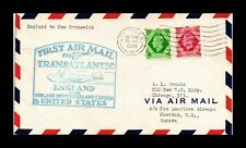 DR JIM STAMPS LONDON MONCTON AIRMAIL FIRST FLIGHT UNITED KINGDOM COVER