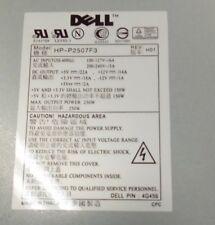 DELL PC POWER SUPPLY - MODEL HP-2507F3 REV H01 250 W