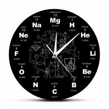 Chemical Elements Wall Clock Periodic Symbols Acrylic Science Home Decoration