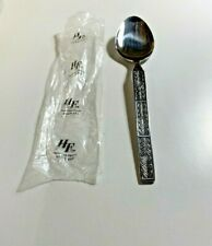 """Hanford Forge Stainless Steel Norwood Leaves Tablespoon Table Spoon Korea 7 3/8"""""""