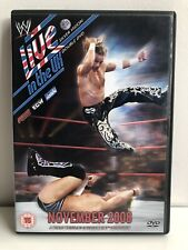 LIVE IN THE UK 2008 WRESTLEMANIA DVD WWF WWE PAL VERSION NO SUBTITLES