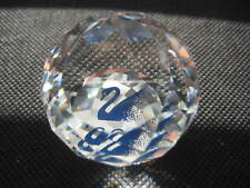 Swarovski Dealer Only round paperweight Scs Blue Swan