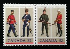 Canada #1007-1008a MNH, Army Regiments Pair of Stamps 1983