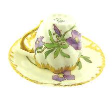 Antique Limoges Alpine Violets CFH GDM Demitasse Cup and Saucer