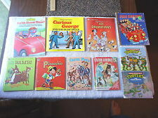 """Lot Of 10 Vintage Childrens Books,Pinoccho,Bambi,etc """" AWESOME COLLECTABLE LOT """""""