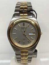 Seiko Watch Vintage Steel/gold Plated Silver 33mm Discounted New