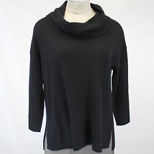 NEW NWT Susina Nordstrom Rack Plus Size 100% Cashmere Black Tunic Sweater 3X