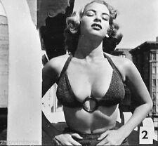 VTG 1950's Black & White PIN-UP Sexy HEADSHOT Model Bahting Suit BOOBS Photo