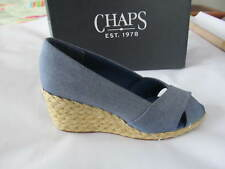 d2e9bb0f08a Chaps Wedge Canvas Heels for Women for sale | eBay