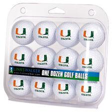 Miami Hurricanes Dozen 12 Pack Golf Balls