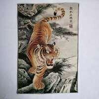 "36"" China Tuch Seide 12 Sternzeichen Tier Tiger Malerei Home Decoration #7"