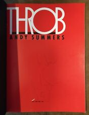 Autograph : ANDY SUMMERS on the book : THROB ANDY SYMMERS (1983) (ROCK : POLICE)