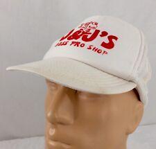 Vtg J & J Bass Pro Shop Trucker Hat White Double Snapback Fishing Bait Tackle