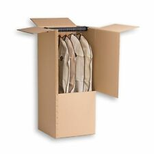 10 LARGE STRONG REMOVAL MOVING WARDROBE CARDBOARD BOXES WITH HANGING RAILS