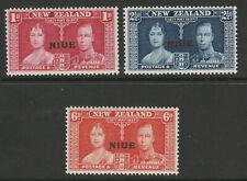 Niue 1937 Coronation set SG 72-74 Mnh.