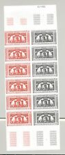 Monaco #1021 Bicentennial, Liberty Bell 1v Imperf Trial Color Block of 12