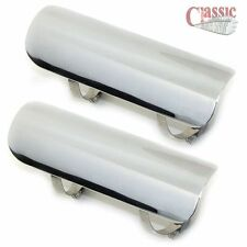 7 INCH CHROME EXHAUST  HEAT SHIELDS TO SUIT A TRIUMPH 650 750 HIGH LEVEL PIPES