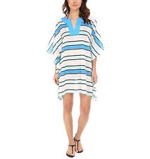 NWT $100 Vince Camuto Cerulean Striped Tunic Cover Up Swim Spa Size XS/S V-Neck