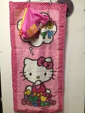 Hello Kitty sleeping bag or nap mat 56 X 28 zipped closed carry bag backpack 168