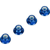 Blue 4MM Wheel Nuts (Set of 4) for Traxxas Arrma Axial Racing HPI TLR ECX