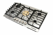 "METAWELL 30"" Stainless Steel Gold Burner Built-in 5 Stoves Natural Gas Cooktops"