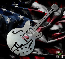 Metal Electric Guitar Wall Art Sign Rock Rockabilly 1950's Music Band Gift Idea