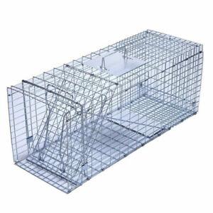 Humane Live Animal Trap Possum Rat Feral Cat Rabbit Hare Fox Catch Folding Cage