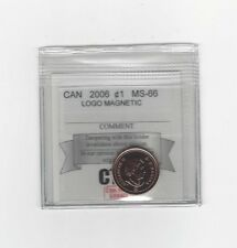 **2006 Logo Magnetic**Coin Mart Graded Canadian Small One Cent, **MS-66**