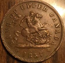 1857 UPPER CANADA DRAGONSLAYER ONE PENNY TOKEN - Breton 720 - Fantastic example!