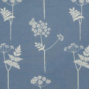 "2.3 meters VANESSA ARBUTHNOTT ""Cow Parsley"" LINEN fabric Cornflower Blue"