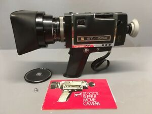 GAF ST/1002 Super-8 Movie Camera Chinon f1.7 6.5-65mm Lens Clean Not FIlm-Tested