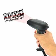 Automatic Usb Laser Scan Barcode Scanner Bar Code Reader Black Handheld Gun