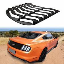 1x Matte Black ABS Rear Window Louver Cover Sun Shade for Ford Mustang 2015-2019