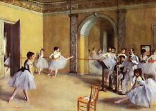 Edgar Degas Dance Class at the Opera 1872 Genuine Fine Canvas. 1st Class From UK