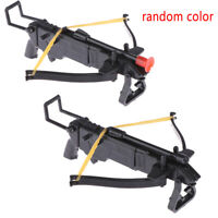 1set DIY Black Plastic Assembled Toy Rubber Band Bow Arrow Assembling Toys NATA