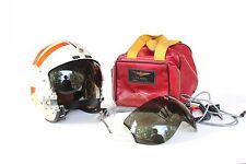 Vietnam Era USCG US Coast Guard Pilot Helmet APH-6 Helmet w/ Bag Cables & Visors