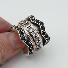 Hadar Designers Impressive 9k Gold Sterling Silver Red Garnet Ring size 8 ( SALE