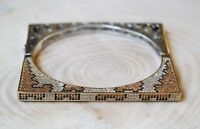 Turkish Handmade Jewelry Sterling Silver 925 Quartz Bracelet Bangle Cuff