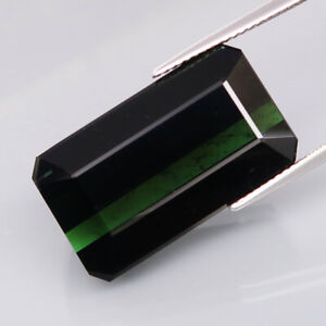29.00Ct.Awesome Natural GIANT Midnight Green Tourmaline Mozambique Perfect Shape