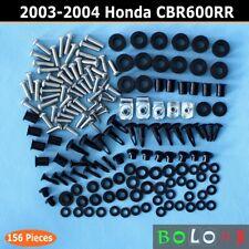 For Honda CBR600RR 2003-04 Complete Fairing Bolt Kit body Screws Hardware 156Pcs