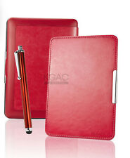 Red Leather Case for Amazon Kindle Paperwhite 5 6 WiFi Cover w/ Sleep Mode