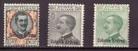 1925 Eritrea 3 Val Posta Ordinaria Francobolli Regno Soprastampati Integri MNH