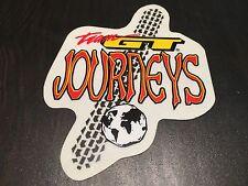 """NOS VINTAGE TEAM GT """"JOURNEYS"""" TIRE TRACK/GLOBE BMX STICKER DECAL"""
