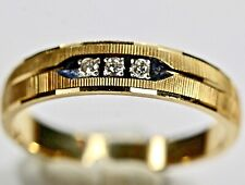 Real 14Kt Gold Band Diamond Wedding Band Ring Fine Jewelry Yellow Gold size 10