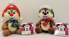 Disney Store, Chip and Dale, Christmas Soft Toy bean bags. New with Tags Genuine