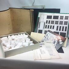 """Vintage Plan It Kit 3 Dimensional Mini Furniture Arranging Kit 60s  1/2""""=1ft."""
