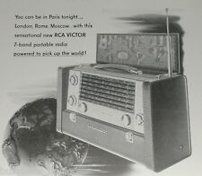 1953 Radio Corporation of America ad, RCA, Strato-World radio