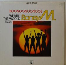 "BONEY M WE KILL THE WORLD - 12"" MAXI UNIQUE - HANSA 600455-213 (Y589)"