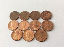 Lot De 11 Pièces USA One Cent 1980-1990